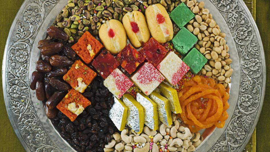 Assortment of Sweets at Diwali