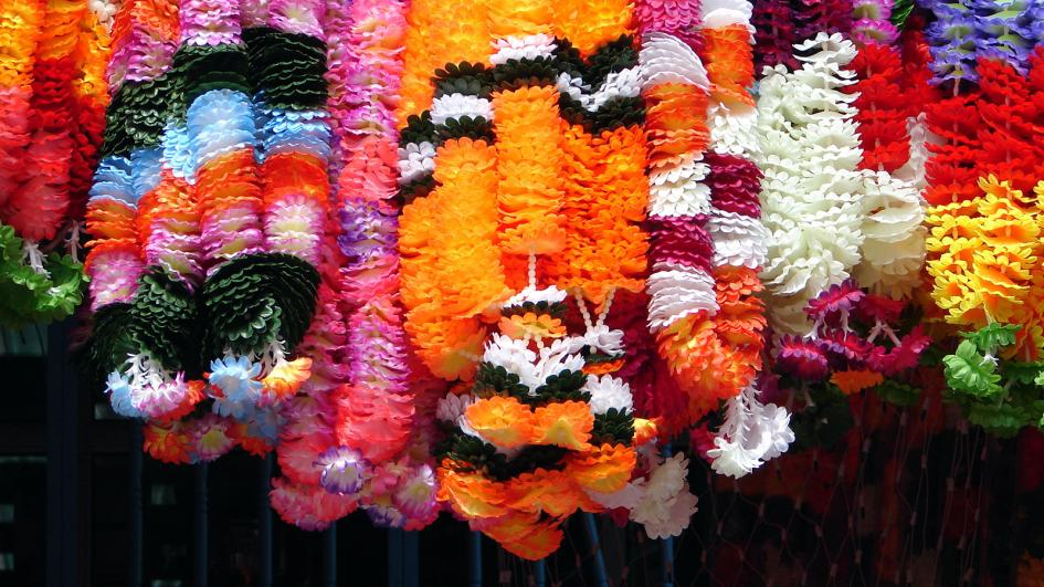 Garlands from Marigolds for Diwali